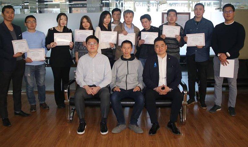 Сургалтад тэтгэлэгтэй хамрагдсан залуучууд сертификатаа гардан авлаа
