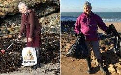 70 настай эмээ нэг жилийн дотор 52 далайн эргийг цэвэрлэжээ