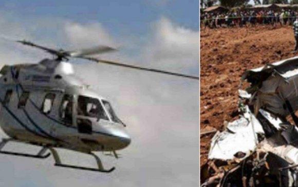 Кенид нисдэг тэрэг осолджээ