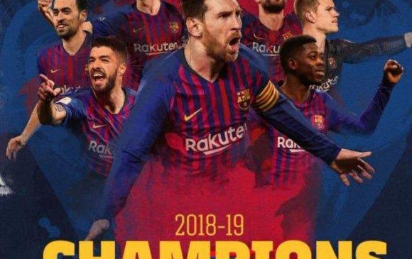 """""""Барселона"""" 26, Месси 10 дахь лигийн цомоо хүртэв"""