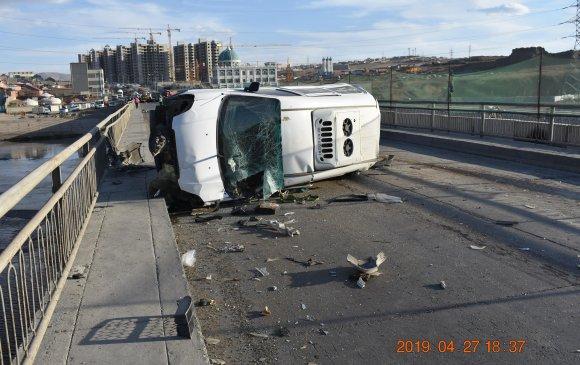 Таван машин мөргөлдөж, долоон хүн гэмтжээ