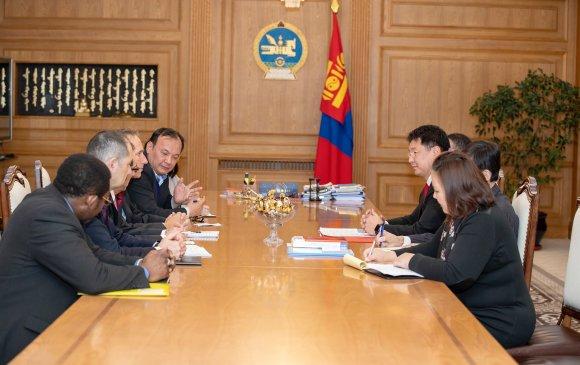У.Хүрэлсүх Дэлхийн банкны төлөөлөгчдийг хүлээн авч уулзав