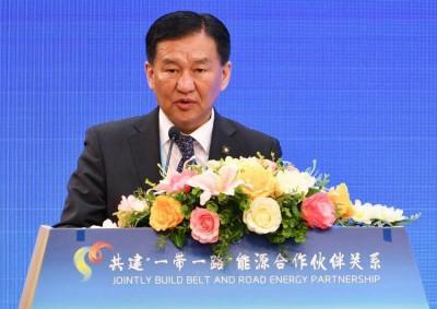 """Эрчим хүчний сайд """"Бүс ба Зам"""" олон улсын хамтын ажиллагааны дээд түвшний чуулга уулзалтад оролцож байна"""