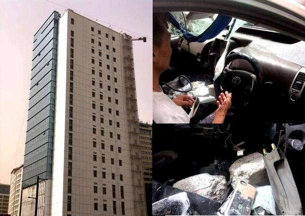 Машины дээрээс цемент унагасан компанийн үйл ажиллагааг зогсоожээ