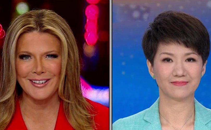 Америк, Хятадын телевизийн хөтлөгчид шууд нэвтрүүлгээр халз мэтгэлцэв