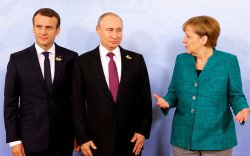 Путин, Меркель, Макрон нар утсаар ярьжээ