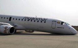 Мьянмарын нисгэгч урд дугуйгүй онгоцыг амжилттай газардуулжээ