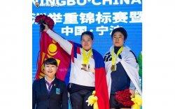 М.Анхцэцэг Нинбо хотоос мөнгөн медальтай ирэв