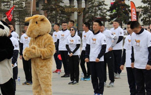 Оюутнууд монгол бөхөнгийн төлөө гүйлээ