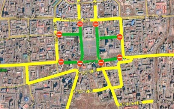 Багшийн дээдийн уулзвараас Цэцэг төвийн уулзвар хүртэлх замын хөдөлгөөнийг түр хязгаарлана
