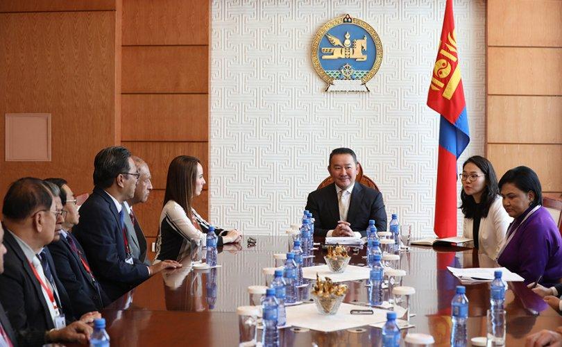 Ерөнхийлөгч Олон Улсын Парламентын Холбооны төлөөлөгчдийг хүлээн авч уулзав