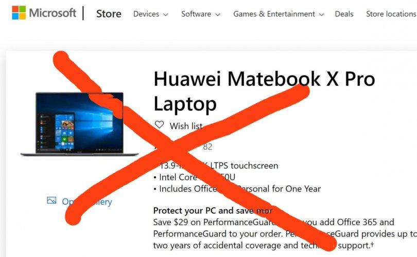 """""""Microsoft""""-ийн онлайн дэлгүүр """"Huawei""""-ийн бүтээгдэхүүнүүдийг хасав"""