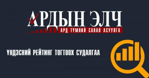 """""""АРДЫН ЭЛЧ-2019"""" санал асуулгын хугацааг сунгажээ"""