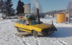 Хуучин машинаа зөөврийн саун болгожээ