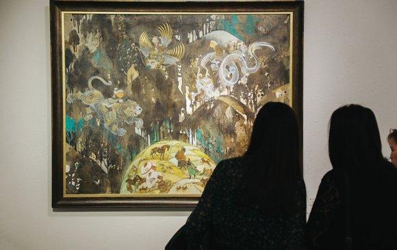 """Зураач Т.Нурмаажавын """"Хэмнэл"""" үзэсгэлэнгийн нээлт болов"""