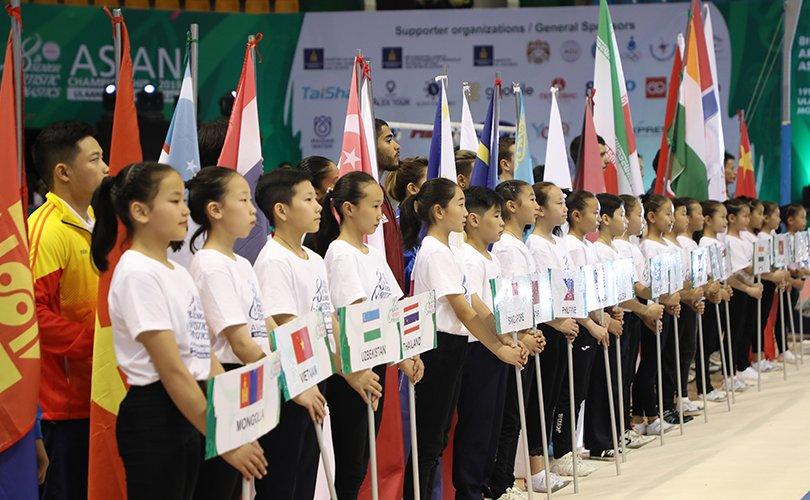 Спортын гимнастикийн Ази тивийн аварга шалгаруулах тэмцээн эхэллээ