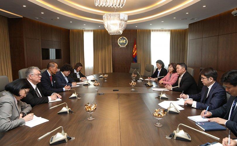 Ерөнхийлөгч ДЭМБ-ын төлөөлөгчдийг хүлээн авч уулзав