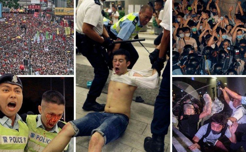 Хэрэгтэн шилжүүлэх хуулийг Хонконг эсэргүүцэн жагслаа