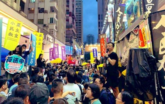 Тянь Ань Миний дурсгалын жагсаалд 180,000 гаруй хүн оролцлоо