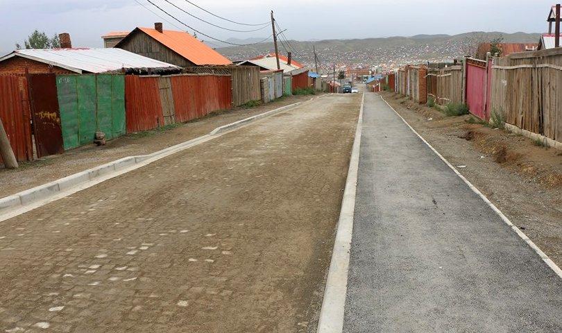 Баянхошууны эцсийн буудлаас 10 дугаар хороо хүртэлх замын барилгын ажил дууслаа