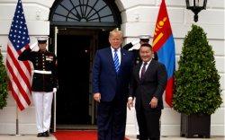 Ерөнхийлөгч Х.Баттулгыг АНУ-ын Ерөнхийлөгч Доналд Трамп Цагаан ордонд угтав