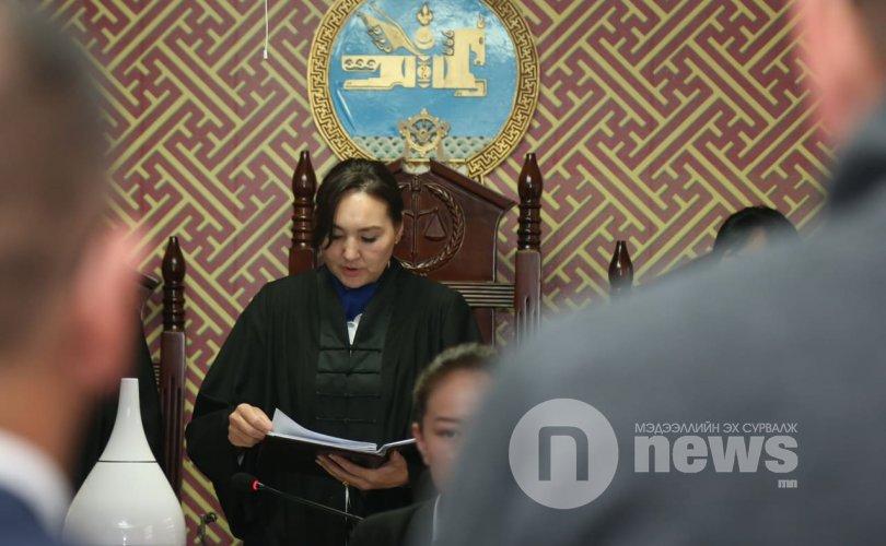 Б.Хурц нарт холбогдох хэргийн шүүх хурал Лхагва гаригт болно