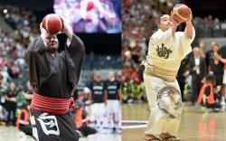 Хакухо М.Даваажаргал, Какүрюү М.Ананд нар сагсан бөмбөгийн үзүүлэн тоглолт хийлээ