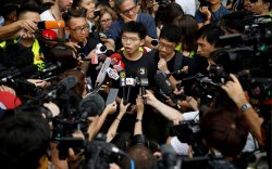 Ардчиллын төлөө тэмцэгч Жошуа Вонгийг баривчилжээ