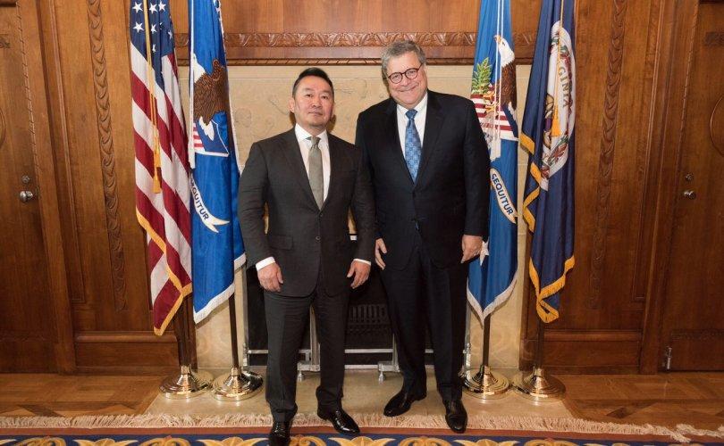 АНУ-ын Хууль зүйн сайд бөгөөд Ерөнхий прокурор Уилльям Барр Монгол Улсын Ерөнхийлөгч Х.Баттулгад бараалхав