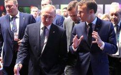 """Путин, Макрон нарын уулзалт """"халуухан"""" болж өндөрлөв"""