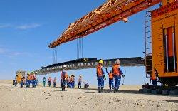Зүүнбаян-Тавантолгойн төмөр замыг барихад чухал үүрэгтэй Зүүнбаянгийн үе угсрах баазыг УБТЗ барьж байгуулж байна