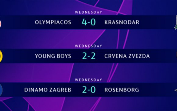 Грекийн Олимпиакос, Хорватын Загреб багууд талбайдаа ялалт байгууллаа