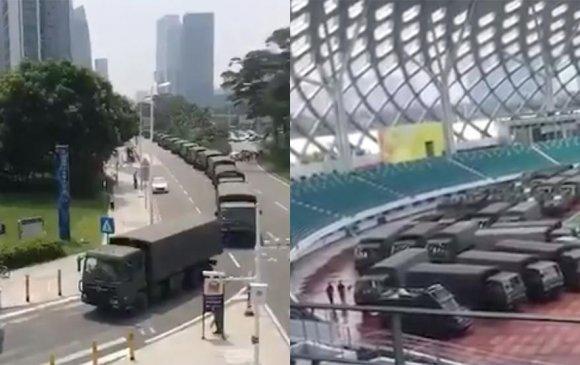 Хятадын арми Хонгконгийн хил дээр цэрэг, техникээ байрлуулжээ