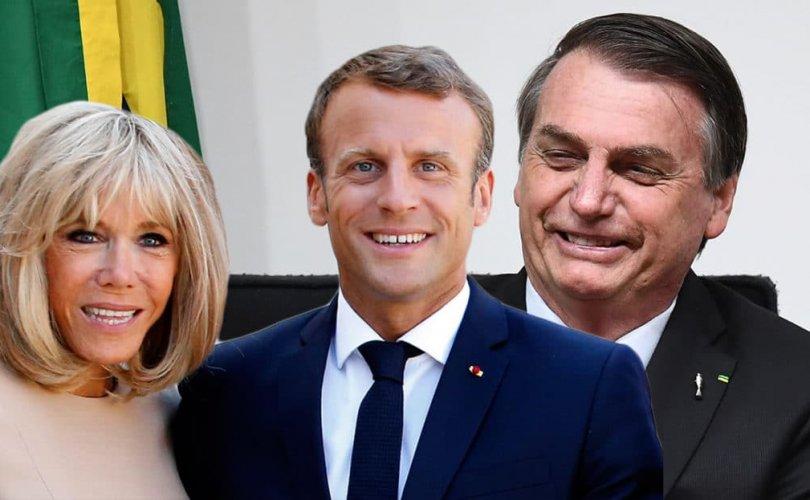 Францын Ерөнхийлөгч Макрон эхнэрээ өмөөрчээ