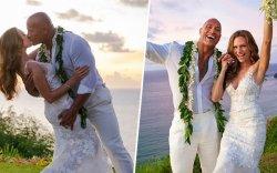 Дуэйн Жонсон Хавайн арал дээр нууцхан хуримлав