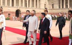 Ерөнхийлөгч Х.Баттулгыг Энэтхэг улсын Ерөнхийлөгч Рам Натх Ковинд албан ёсоор угтав