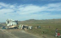 Төв аймгийн замд гурван машин мөргөлджээ