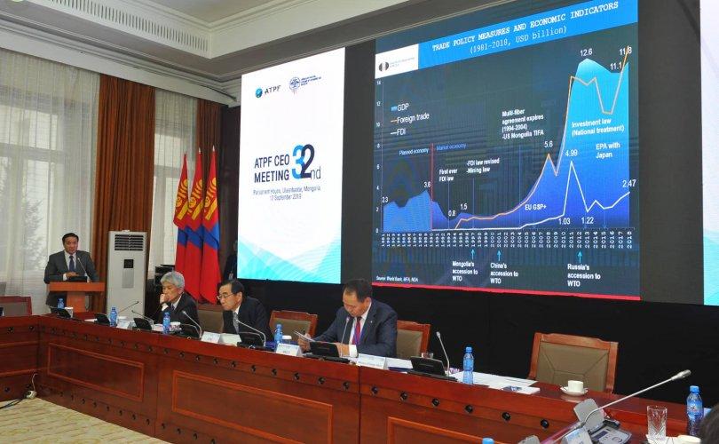 Азийн худалдааг дэмжих байгууллагын удирдлагууд Монголд чуулж байна