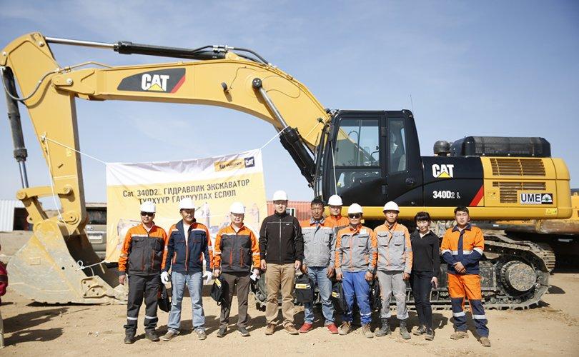 CAT340D2L экскаваторын түлхүүр гардуулах ёслол Гүний Уурхайн Инженер компанийн уурхайн талбарт амжилттай болж өнгөрлөө