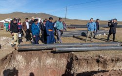 Хэнтийн зургаан суманд дулаан, цэвэр усны шугам ашиглалтад орно