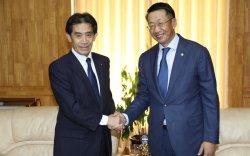 Япон-Монголын парламентын бүлгийн дэд даргыг хүлээн авч уулзлаа