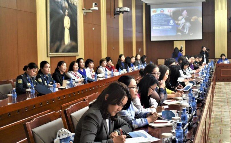 """""""Гамшгийн эрсдэлийг бууруулахад эмэгтэйчүүдийн оролцоо"""" уулзалтын зөвлөмж"""