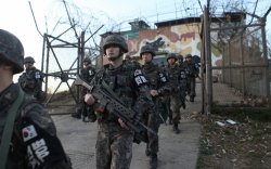 Мэргэн буучид Хойд Солонгосын зэрлэг гахайнуудыг агнана