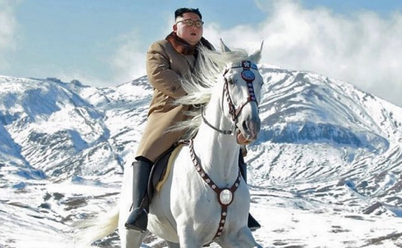 """Цагаан морьтой Ким Жон Уны зураг """"наргиан"""" биш"""