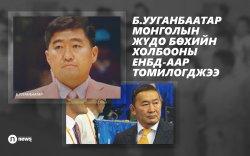 Б.Ууганбаатар Монголын жүдо бөхийн холбооны ЕНБД-аар томилогджээ