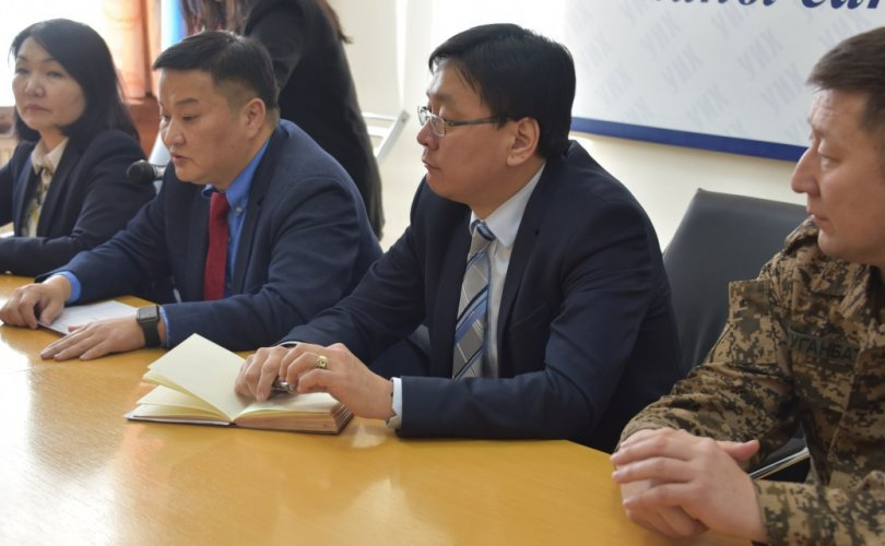 """УИХ-ын Тамгын газрын удирдлагууд """"Монголын үндэсний фронт"""" хөдөлгөөний төлөөллийг хүлээн авч уулзав"""