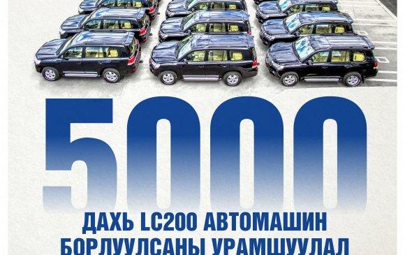 Таван Богд компани нь 5,000 ширхэг Land Cruiser 200 борлууллаа