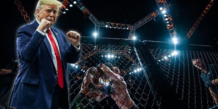 Трамп өнөө орой UFC-ийн тулаан үзнэ