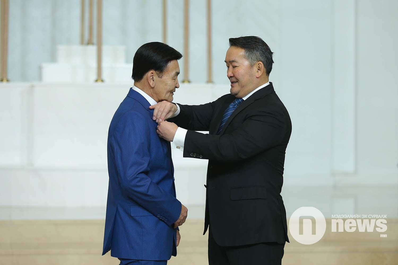 Монгол Улсын Ерөнхийлөгчийн зарлигаар Төрийн дээд одон, медаль гардуулах ёслол (14)