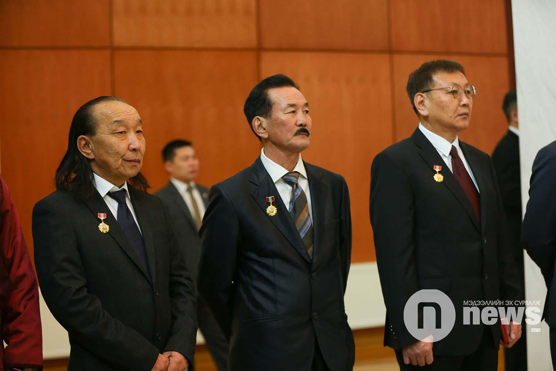 Монгол Улсын Ерөнхийлөгчийн зарлигаар Төрийн дээд одон, медаль гардуулах ёслол (26)